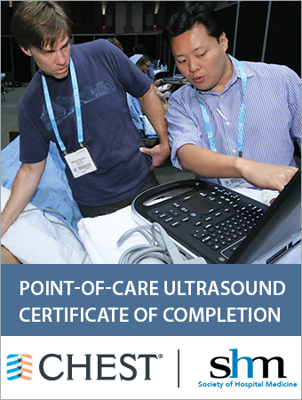 SHM CHEST Point-of-Care Ultrasound Certificate of Completion