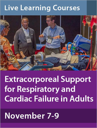 Image for Extracorporeal Support for Respiratory and Cardiac Failure in Adults in November 2019