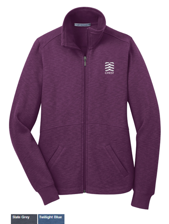 Ladies Port Authority Slub Fleece Full Zip Jacket