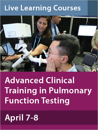 Advanced Clinical Training in Pulmonary Function Testing April 2018