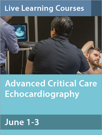 Advanced Critical Care Echocardiography June 2018