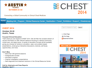 CHEST 2014 Austin, Texas October 25-30