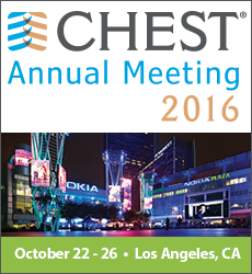 Learn more about CHEST 2016 in Los Angeles | October 22 - 26 2016